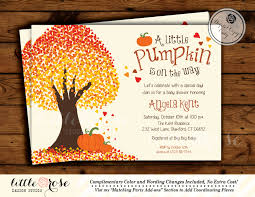 template fall baby shower invitations