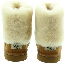 ugg ellee sale ugg ellee fur top boots in chestnut in chestnut