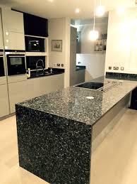 black granite kitchen island black granite kitchen worktop waterfall side kitchen ideas