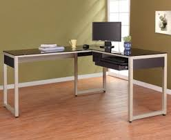 Desk With Top Shelf Desk Wooden Office With Glass Top Regard To Modern Household