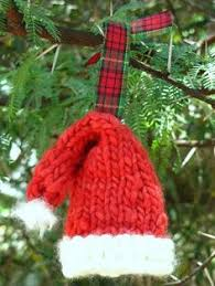 beautifully knitted ornaments grandparents