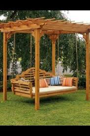 Swing Arbor Plans Grape Trellis With Bench Swing Arbor Design Ideas Pictures