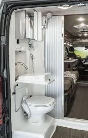Travato Interior Bedroom And Bathroom Winnebago Rvs Rv Bathroom Fixtures