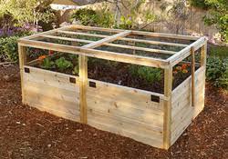 Garden With Trellis Elevated Garden Beds For Your Standing Gardening Needs