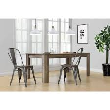 dorel living weston block leg dining table with fusion metal