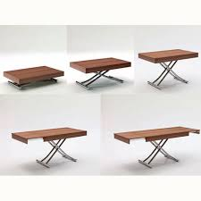 transforming space saving furniture resource furniture the passo is a transforming coffee table with glass wood top and