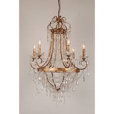 French Empire Chandelier Lighting European Design French Empire Crystal Basket Chandelier In Antique