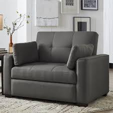 convertible sofas and chairs serta gunny twin size dream convertible sofa in gray se gun gr set