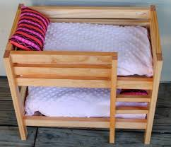 18 Inch Doll Bunk Bed Handmade Stained Wooden 18 Inch Doll Bunk Bed By Bloomin