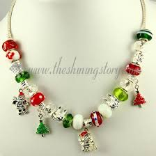 bead necklace charms images Christmas charms necklaces with crystal murano glass beads wholesale jpg