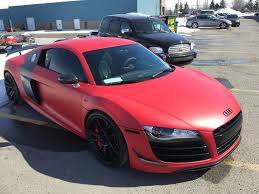 Audi R8 Upgrades - got my r8 gt wrapped in red matte along with some new wheels