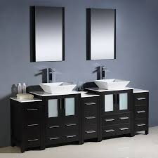 84 Bathroom Vanity Shop Fresca Bari Espresso Double Vessel Sink Bathroom Vanity With
