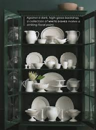 Display Dishes In China Cabinet Wonderful White Dishes Southern Hospitality