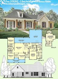 2 farmhouse plans plan 51742hz 3 bed acadian home plan with bonus garage