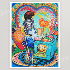 Mexican Kitchen Decor by Mexican Kitchen Catrina Art Print Day Of The Dead Cook Wall