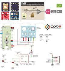 wiring the ml8511 ultra violet light sensor on microcontroller