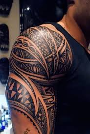 12 tribal tattoos on shoulder