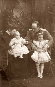 hrh princess marie alexandra of baden siting on her father prince