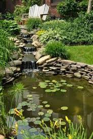 Backyard Water Falls by Backyard Waterfalls Koi Pond And Garden Plantings In Connecticut