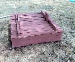 awesome picture of how to build a sandbox with seats and cover