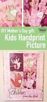 diy mothers day gift kids handprint picture gift kid