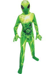 child green alien costume extraterrestrial fancy dress martian