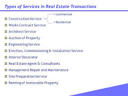 service tax issues on construction of residential complex ppt
