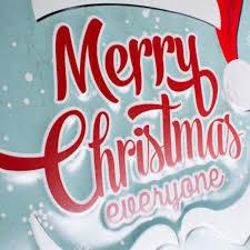 merry christmas sign 12 tin merry christmas sign light blue xtm4007 craftoutlet