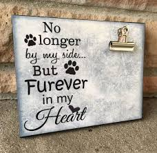 dog memorial pet picture frame no longer by my side but furever in my heart in