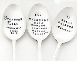 personalized spoons custom spoon etsy