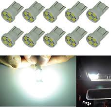 amazon led auto lights amazon com cutequeen 10pcs led car lights bulb white t10 2835 4 smd