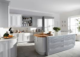 rental kitchen ideas light grey island and cabinetry using white granite countertop in