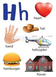vector illustration of things that start with the letter o