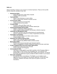 Sample Skills For Resume by List Of Interpersonal Skills For Resume Resume For Your Job