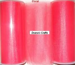 spools of tulle coral tulle fabric spool roll 6 x 25 yards tutu wedding bows