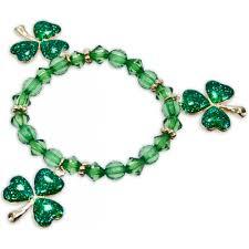 Shamrock Green Beaded Shamrock Bracelet Mardigrasoutlet Com
