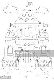 fairy princess tower climbing beanstalk color vector