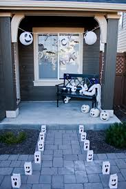 friendly ghost halloween porch decor