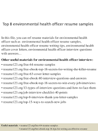 Healthcare Professional Resume Sample by Top 8 Environmental Health Officer Resume Samples 1 638 Jpg Cb U003d1431657885