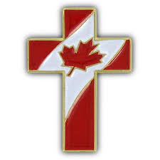 Canadian Flag Patch Christian Cross Special Design Pin With Canada Flag