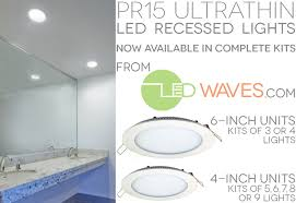 Low Profile Recessed Lighting Fixtures The Most Led Recessed Lights Waves Throughout Low Profile