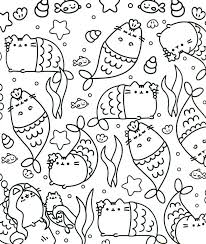 Coloring Pusheen Coloring Pages To Print In Conjunction With Coloring Pages For Printable