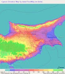 map of cyprus cyprus elevation and elevation maps of cities topographic map contour