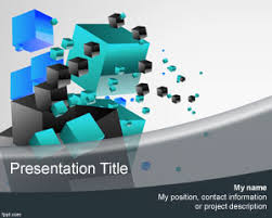 3d cubes powerpoint template is a free 3d ppt template that you