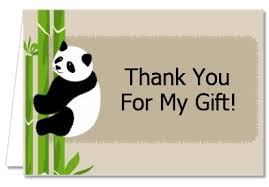 baby shower thank you cards baby shower thank you cards panda thank you notes
