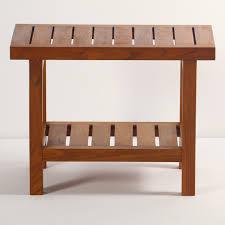 solid teak spa shower bench with shelf spa shower bench with shelf