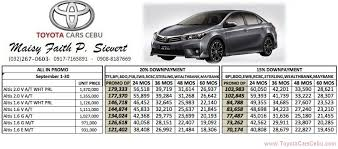 toyota cars philippines price list with pictures toyota car price lists toyota cars cebu mandaue