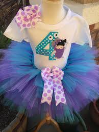 Boo Monsters Inc Halloween Costume by Monsters Inc Boo Birthday Tutu Dress Set Handmade Party