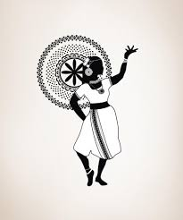 vinyl wall decal sticker dancing indian os dc143