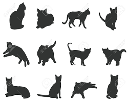 Halloween Silhouette Cutouts Cat Silhouette Stock Photos Royalty Free Cat Silhouette Images